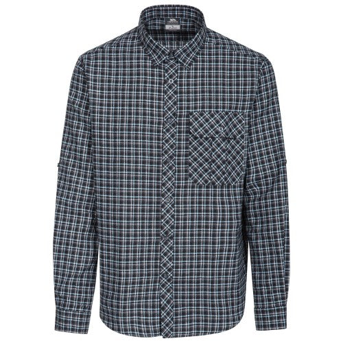 Front - Trespass Mens Snyper Check Shirt