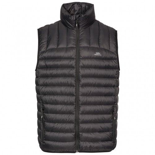 Front - Trespass Mens Hoppers Down Gilet