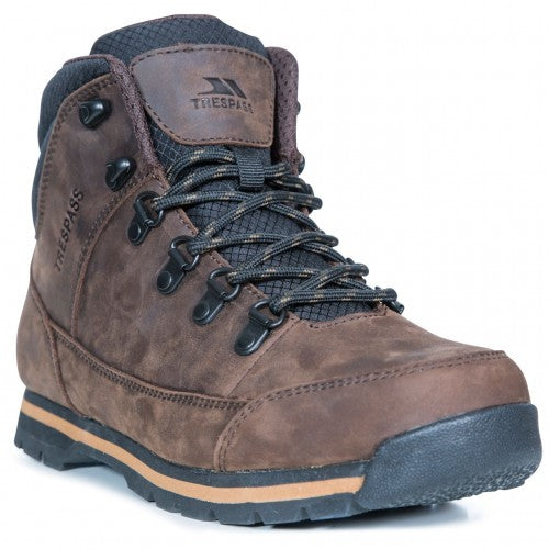 Front - Trespass Mens Jericho Leather Boots