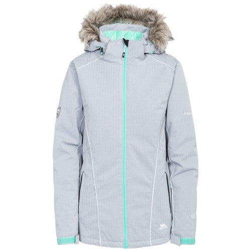 Front - Trespass Womens/Ladies Caitly Hooded Touch Fastening Ski Jacket
