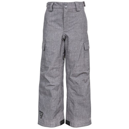 Front - Trespass Childrens/Kids Joust Weatherproof Padded Touch Fastening Trousers