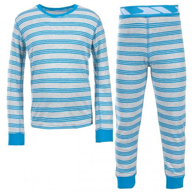 Front - Trespass Kids Boys Calum Thermal Base Layer Set (Top & Bottoms)