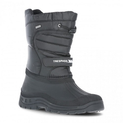 Front - Trespass Unisex Dodo Pull On Winter Snow Boots