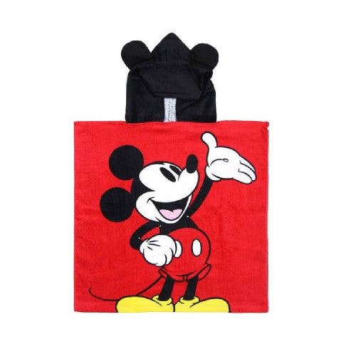 Front - Mickey Mouse Childrens/Kids Hooded Poncho Towel