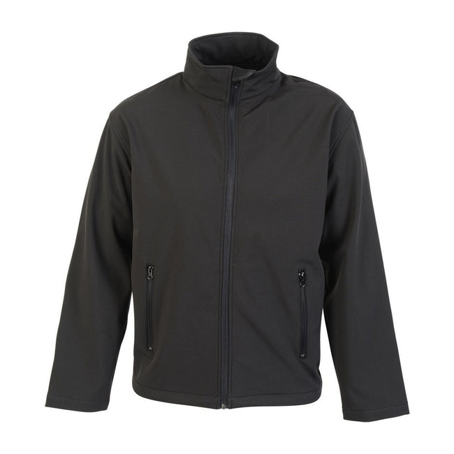 Black - Front - Absolute Apparel Mens Classic Softshell