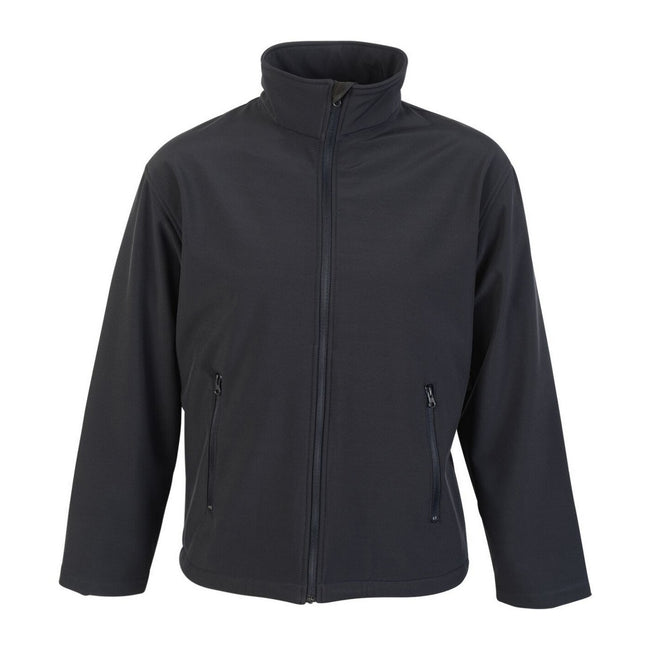 Navy - Front - Absolute Apparel Mens Classic Softshell