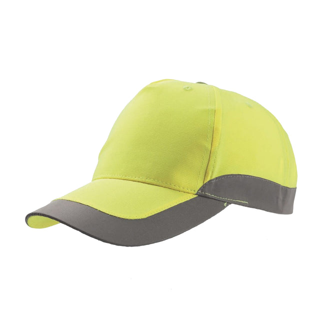 Safety Yellow - Front - Atlantis Helpy 5 Panel Reflective Cap