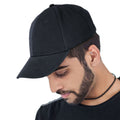 Navy - Front - Atlantis Liberty Six Buckle Brushed Cotton 6 Panel Cap
