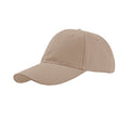 Khaki - Front - Atlantis Liberty Six Buckle Brushed Cotton 6 Panel Cap
