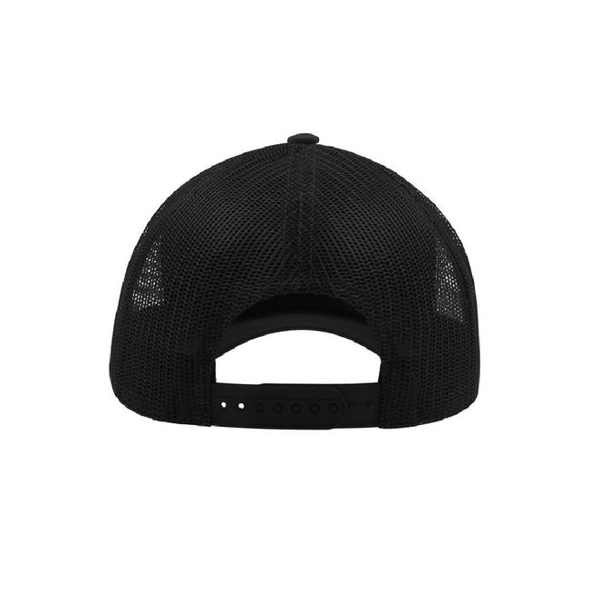Black - Back - Atlantis Rapper Jersey Mid Visor Trucker Cap