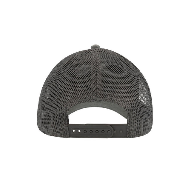 Dark Grey - Back - Atlantis Rapper Jersey Mid Visor Trucker Cap