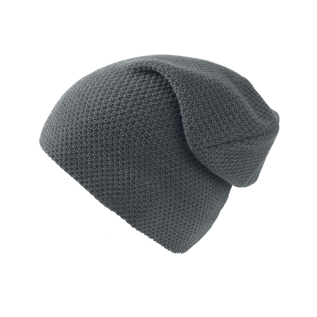 Light Grey - Front - Atlantis Snobby Waffle Knit Beanie