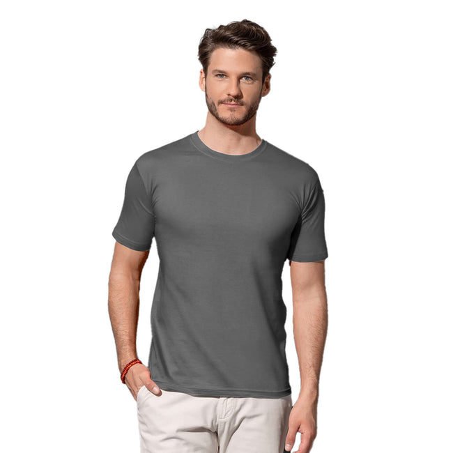 Heather Grey - Front - Stedman Mens Classic Fitted Tee
