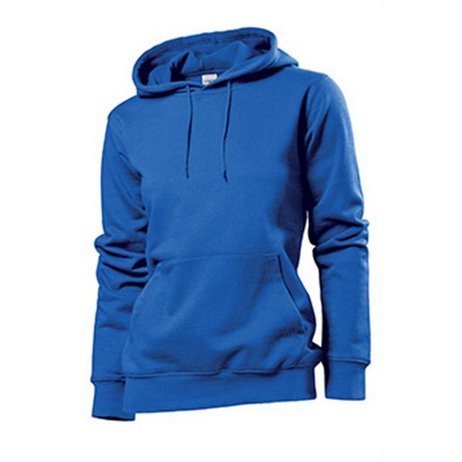 Bright Royal - Front - Stedman Womens-Ladies Hooded Sweat
