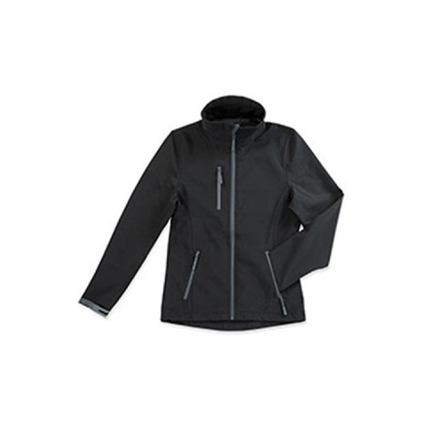 Dolphin Grey - Front - Stedman Womens-Ladies Active Softest Shell Jacket