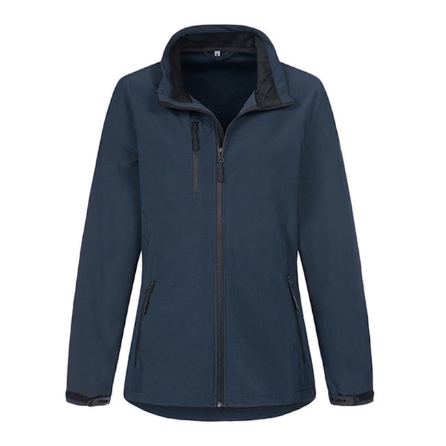 Black Opal - Front - Stedman Womens-Ladies Active Softest Shell Jacket
