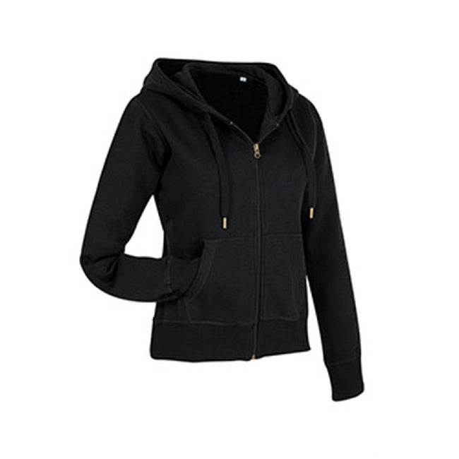 Crimson Red - Front - Stedman Womens-Ladies Active Zip Hood