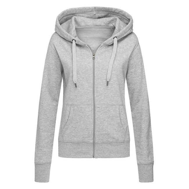 Deep Berry - Front - Stedman Womens-Ladies Active Zip Hood