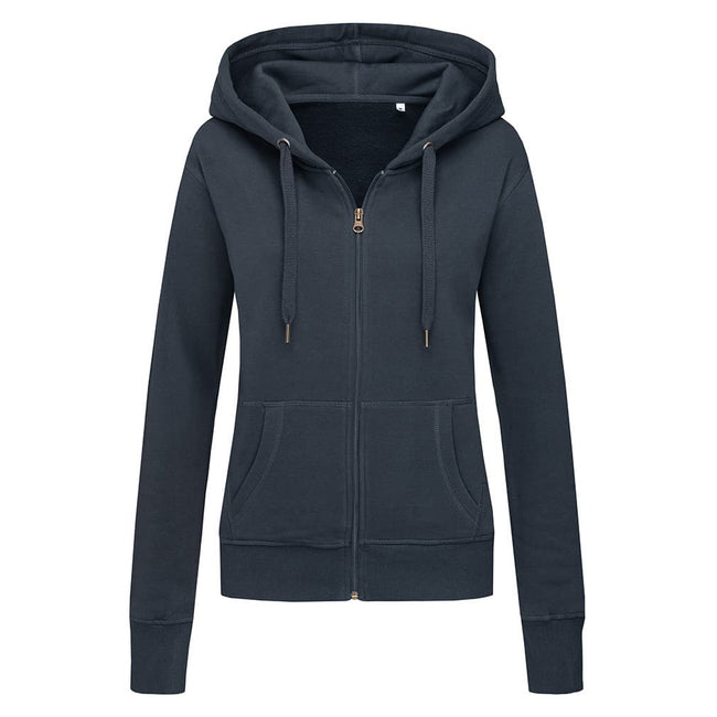 Heather Grey - Front - Stedman Womens-Ladies Active Zip Hood