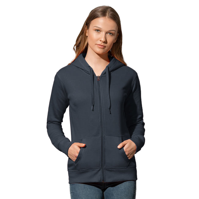 Sweet Pink - Front - Stedman Womens-Ladies Active Zip Hood