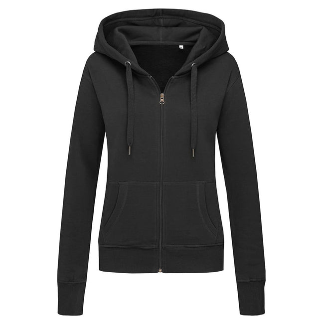 Black Opal - Front - Stedman Womens-Ladies Active Zip Hood