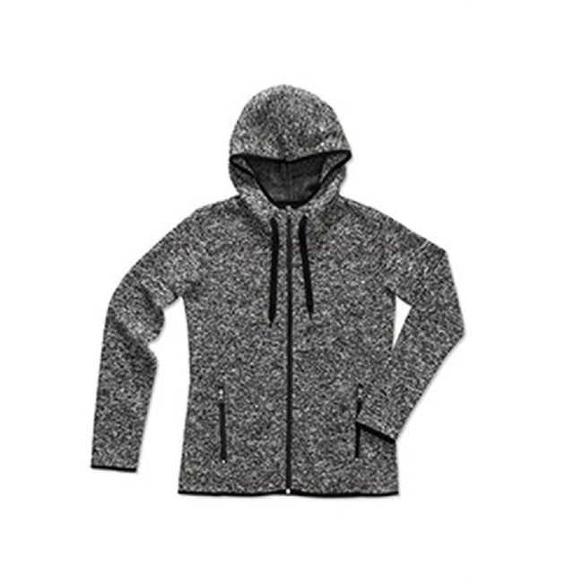 Light Grey Melange - Front - Stedman Womens-Ladies Active Knitted Fleece