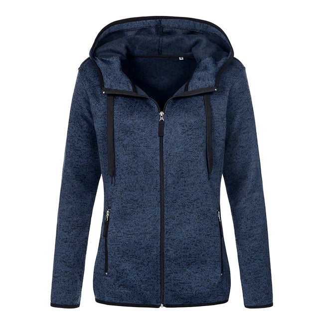 Blue Melange - Front - Stedman Womens-Ladies Active Knitted Fleece