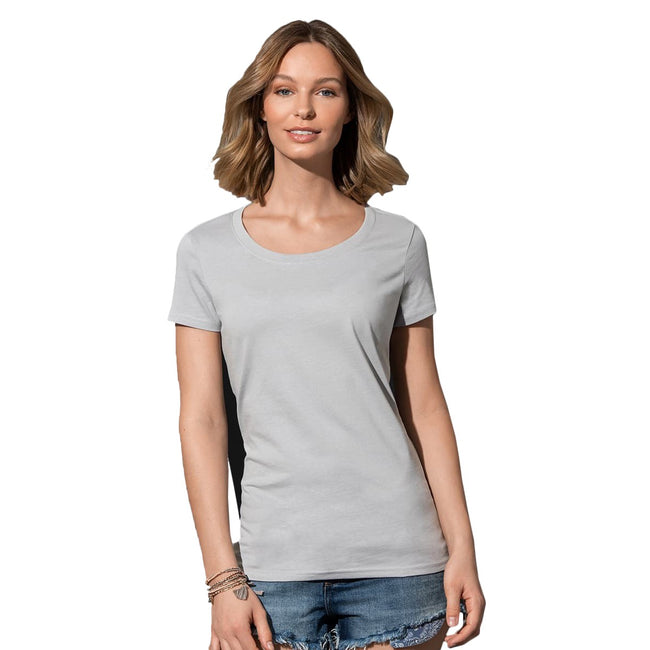Earth Green - Front - Stedman Womens-Ladies Janet Organic Crew Neck Tee