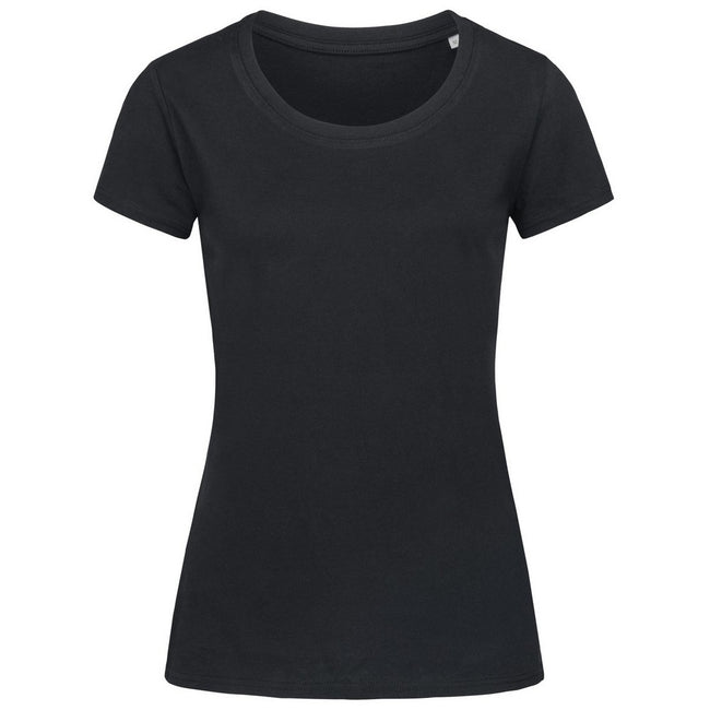 Indian Yellow - Front - Stedman Womens-Ladies Janet Organic Crew Neck Tee