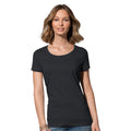 Pepper Red - Front - Stedman Womens-Ladies Janet Organic Crew Neck Tee