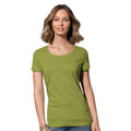 White - Front - Stedman Womens-Ladies Janet Organic Crew Neck Tee