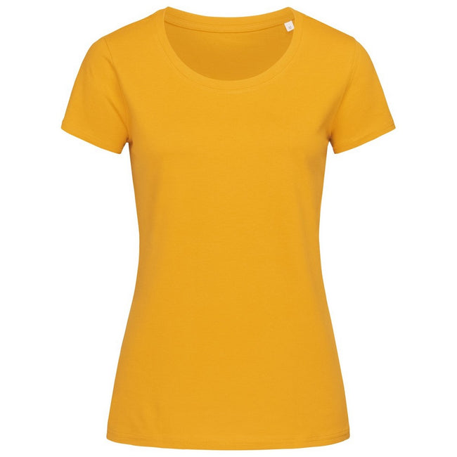 Winter White - Front - Stedman Womens-Ladies Janet Organic Crew Neck Tee
