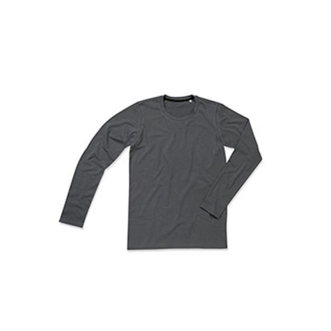 Heather Grey - Front - Stedman Mens Clive Long Sleeved Tee