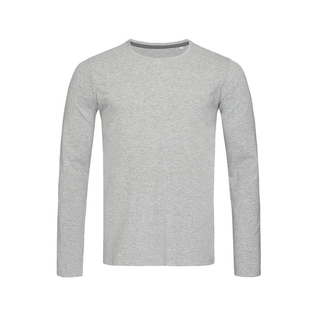 Slate Grey - Front - Stedman Mens Clive Long Sleeved Tee