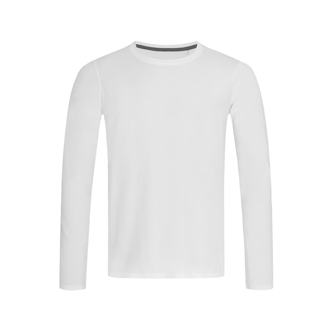 White - Front - Stedman Mens Clive Long Sleeved Tee