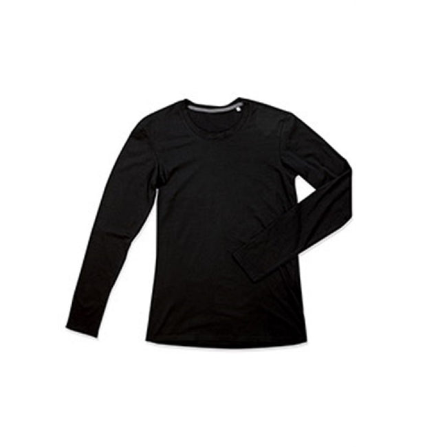Black Opal - Front - Stedman Mens Clive Long Sleeved Tee