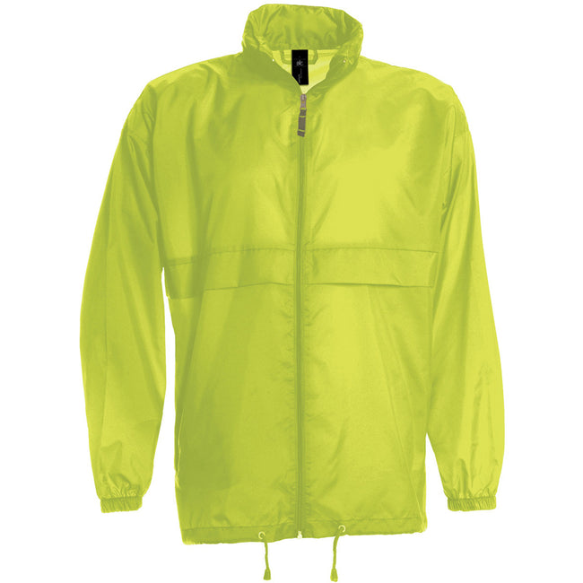 Ultra Yellow - Front - B&C Sirocco Mens Lightweight Jacket - Mens Outer Jackets