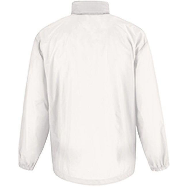 White - Back - B&C Sirocco Mens Lightweight Jacket - Mens Outer Jackets