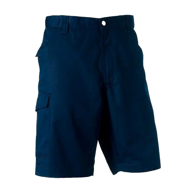 French Navy - Back - Russell Workwear Twill Shorts