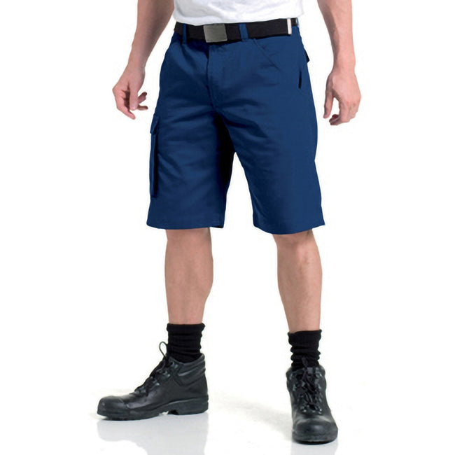 Black - Front - Russell Workwear Twill Shorts