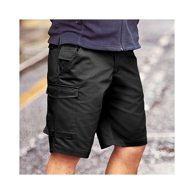 Bottle Green - Front - Russell Workwear Twill Shorts