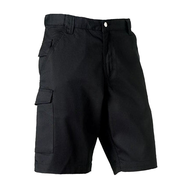 French Navy - Front - Russell Workwear Twill Shorts