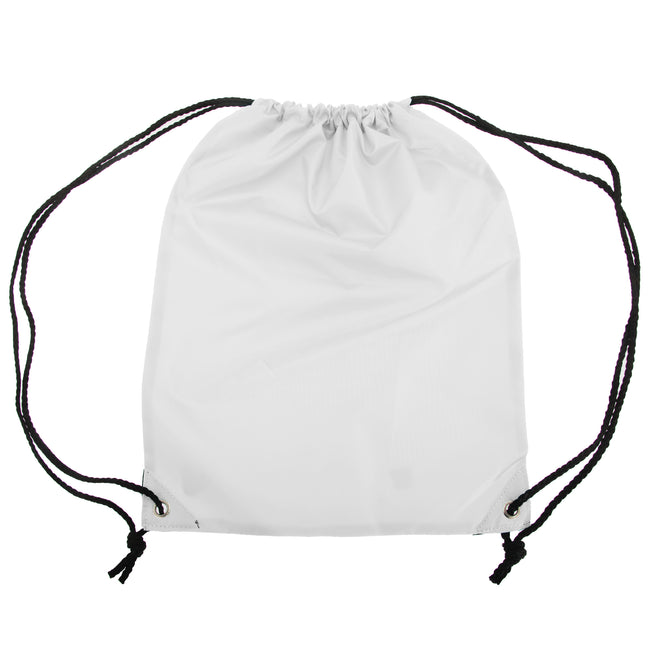 White - Front - Shugon Stafford Plain Drawstring Tote Bag - 13 Litres
