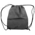 Dark Grey - Front - Shugon Stafford Plain Drawstring Tote Bag - 13 Litres
