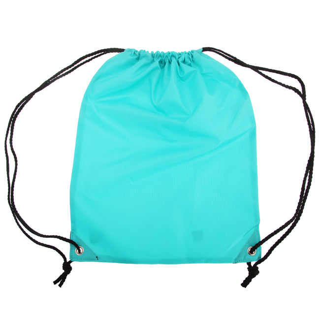Lagoon Turquoise - Front - Shugon Stafford Plain Drawstring Tote Bag - 13 Litres