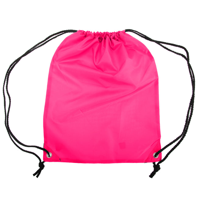 Hot Pink - Front - Shugon Stafford Plain Drawstring Tote Bag - 13 Litres
