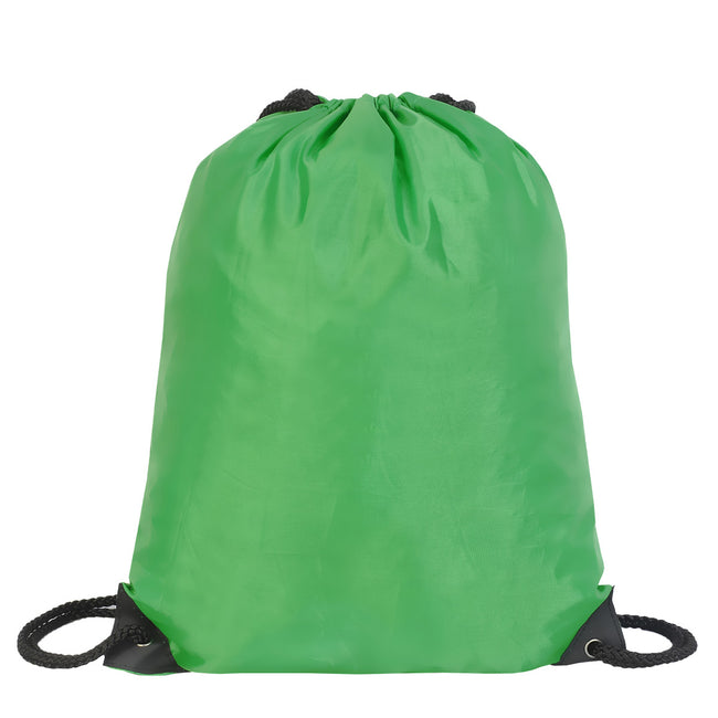 Irish Green - Front - Shugon Stafford Plain Drawstring Tote Bag - 13 Litres