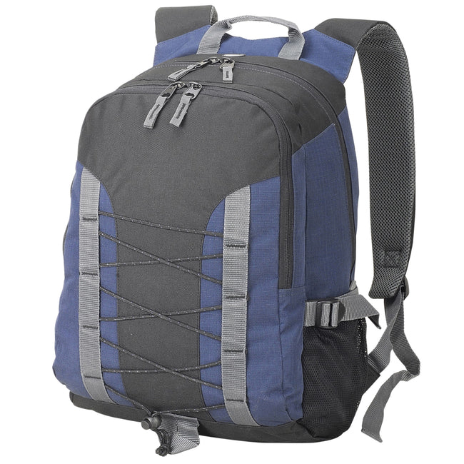 Black-Navy - Front - Shugon Miami Backpack (26 Litres)