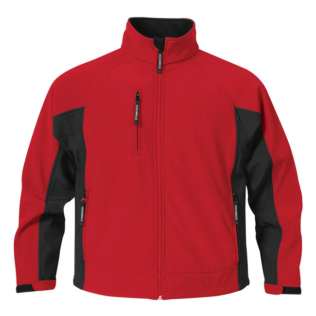 Stadium Red-Black - Front - Stormtech Mens Bonded Teflon® DWR Wind-Water Repellent Jacket