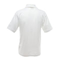 White - Lifestyle - UCC 50-50 Mens Plain Piqué Short Sleeve Polo Shirt